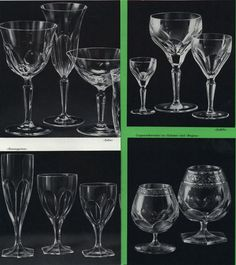 """""""Oertel Glas 1964""""The stemware suite """"Rosengarten"""" is still in production, it's a classic! http://http://shop.oertelcrystal.com/trinkglaeser/trinkglasserien/serie-rosengarten.html"""