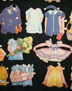 (⑅ ॣ•͈ᴗ•͈ ॣ)♡                                                             ✄Vintage Shirley Temple Paper Dolls Set from 1938