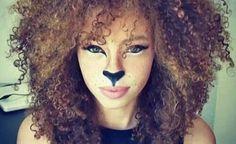 Lioness face Halloween