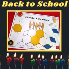 Math Birthday Celebration Puzzles by A Thinkers Toolbox Learning Tools, Learning Resources, Teaching Ideas, School Resources, Teacher Resources, Online Music Lessons, Math Patterns, Birthday Cake With Candles, First Year Teachers