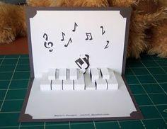 Origami diy kirigami pop up 21 new ideas Pop Up Art, Arte Pop Up, Origami And Kirigami, Origami Paper Art, Diy Origami, Origami Templates, Box Templates, Diy Cards And Envelopes, Libros Pop-up