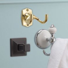 Different types of bathroom hardware for different styles of bathrooms.