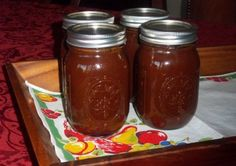Apple BBQ Sauce for Canning -- Just made this Sept. 2, 2013. Boiled it down for three hours. Has a little bit of a zip (but nothing that the kids can't handle).