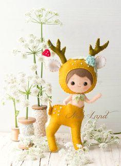 PDF. Deer Centaur. Plush Doll Pattern Softie Pattern Soft | Etsy