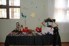 Props for photo booth from different angle