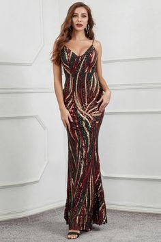 Sexy V-Neck Sleeveless Sequins Prom Dress Long Mermaid Evening Gowns Source by prom dresses long Affordable Prom Dresses, Prom Dresses For Sale, Prom Dresses Online, Homecoming Dresses, Formal Dresses, Mermaid Evening Gown, Evening Gowns, Dress Long, Beautiful Dresses