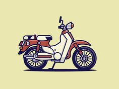 Honda Super Cub by Michael Norris - Dribbble