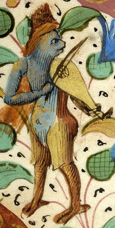 Hybrid animal playing rebec | Breviary | France | ca. 1511 | The Morgan Library & Museum