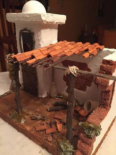 Environment Design, Advent, Miniatures, Texture, Crafts, Cardboard Houses, Christmas Crafts, Christmas Villages, Roof Tiles