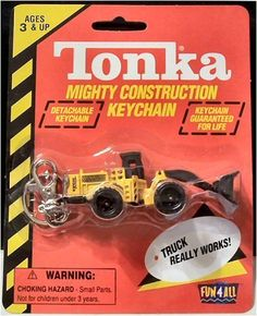 Tonka Mighty Construction Loader Keychain by Fun 4 All. $5.29. Rugged Tires; Detachable Keychain; Heavy Duty Steel Contruction; Parts that Move; Tonka Mighty Construction Keychain. Tonka Mighty Construction Detachable Keychain, Made with Heavy Steel Construction, Rugged Tires, Parts that Move and Built Tough. The Loader is almost 3.5 inches long.