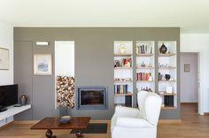 #livingroomwall #fireplace #klimahauscertificatedA