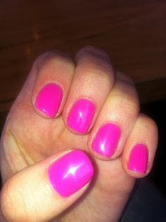 CND Shellac Hot Pop Pink | #EssentialBeautySwatches | BeautyBay.com