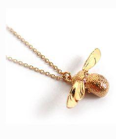 Alex Monroe Necklace   Baby Bee Gold -  - Bloomsbury Store - 1