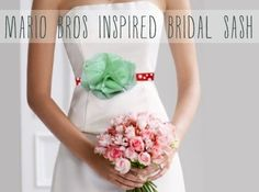 DIY Mario Bros Inspired Bridal Sash