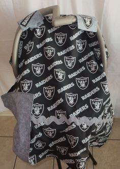 NFL Oakland Raiders Carseat Canopy Team carseat covers ANY team  College Teams Carseat tents on Etsy, $42.00
