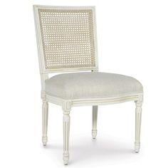 Palecek Lyon Cane Square Distressed Side Chair