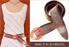 Ok it is a tutorial for the belt, but I love this tank top!