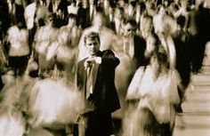 one person in crowd commuting - Google Search Crowd, Black And White, Google Search, Blanco Y Negro, Black N White