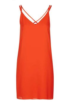 Cross Strap Slip Dress