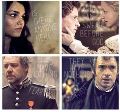 Samantha Barks + Eddie Redmayne + Amanda Seyfried + Russel Crowe + Hugh Jackman - Les Misérables.