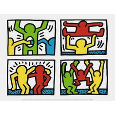 KEITH HARING (1958-1989) A leading Neo-Pop artist, was one of the most articulate members of his generation. He captivated the imaginations of New York City commuters with his subway wall drawings in the early 1980s, and later exhibited his works in prestigious museums throughout the world. The international success of his work has given rise to a proliferation of art in public places. Quick simple and direct, Haring's compositions of Radiant Babies and Barking Dogs draw one's attention to the p Keith Haring Poster, Keith Haring Art, Pittsburgh, Graphic Art, Art Prints, Shop, Graffiti, Radiant Child, Neo Pop