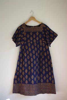vintage ethnic indian batik dress