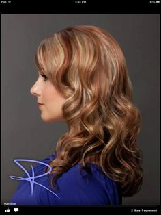 Blonde & red highlights