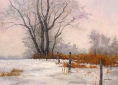 Winter Tree Landscape painting by Mark Vandervinne. Meet the artist in person and see 10 beautiful new oil paintings on Saturday April 6th, 2013 at Atlas Galleries Chicago. For more information please call 800-545-2929