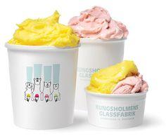 Ice Cream Packaging for Kungsholmens Glassfabrik (Sweden).