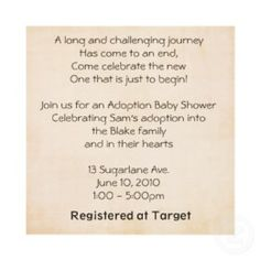 Adoption Shower Invite invitation