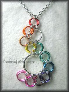 #chainmail #necklace #rainbow