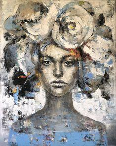 Silence by Julia Klimova. Abstract Portrait, Portrait Art, Painting Inspiration, Art Inspo, Surreal Artwork, Art Journal Techniques, Art Plastique, Figurative Art, Love Art