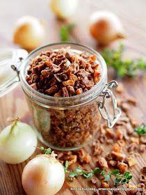 cebulka-prazona-posypka-i-przyprawa-do-potraw Polish Recipes, New Recipes, Favorite Recipes, Polish Food, Meals In A Jar, Tapenade, Appetisers, Chutney, Preserves
