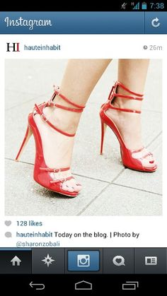 #red #strappyshoes