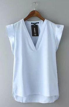 Wavy Sleeves T-Shirts