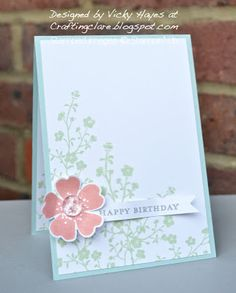 Stampin' Up ideas and supplies from Vicky at Crafting Clare's Paper Moments: Morning Meadow in ice cream colours