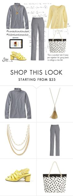 """""""Another getting my wardrobe ready for fall look"""" by shalysa ❤ liked on Polyvore featuring L.L.Bean, Jennifer Lopez, Steve Madden, Microsoft, PBteen, BackToSchool, patternmixing and nontraditionalstudent"""