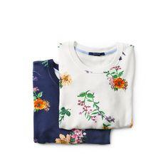 GANT Dam Flower Sweatshirt Evening Blue   Officiell Sida