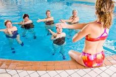 Water aerobics, which is a form of resistance training, has numerous health benefits. This FitnessVigil write-up lists out a few water aerobic routines that can be performed by people of all age groups. Water Aerobic Exercises, Pool Exercises, Squat, Benefits Of Cardio, Endurance Workout, Endurance Training, Brisk Walking, Pool Workout, Water Aerobics