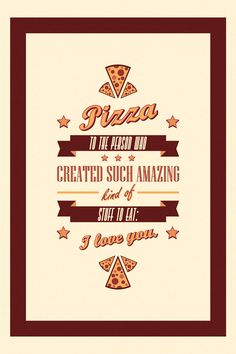 Pizza inspiration - Making art with fonts