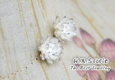 3D Silver Flower Earring, Christmas, Teenage, Valentine, Bridesmaid, Bridal, Wedding, Birthday, Gift