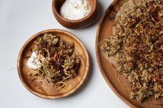 Megadarra- lentils, rice & onions