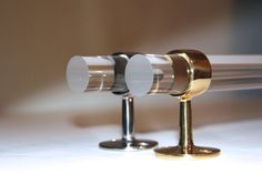 TOWEL BAR Lucite w/ Polished Brass or Stainless by LuxHoldups