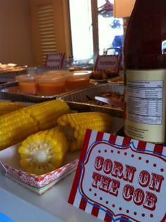 carnival themed first birthday corn on the cob