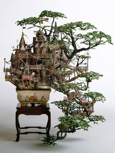 These astoundingly intricate miniatures are so complex and so dreamlike they make one want to get closer and closer until you actually walk their many loop