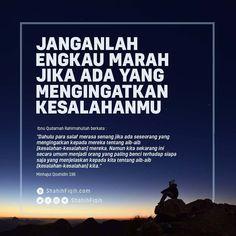 📎 JANGANLAH ENGKAU MARAH JIKA ADA YANG MENGINGATKAN KESALAHANMU.. . 👤 Ibnu Qudamah Rahimahullah berkata Reminder Quotes, Self Reminder, Me Quotes, Muslim Quotes, Islamic Quotes, Antara, Infographic, Parenting, Allah