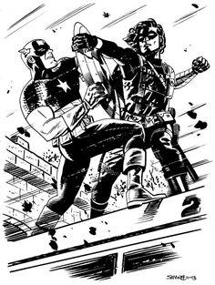 Captain America & Winter Soldier by Chris Samnee