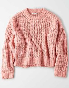 Shop Sweaters & Cardigans for Women at American Eagle. Layer your way in women's sweaters and cardigans, and stay cozy during fall and winter with new sweaters! American Eagle Outfits, American Eagle Shirts, American Eagle Sweater, Casual Outfits, Cute Outfits, Kpop Outfits, Fashion Outfits, Simple Outfits, School Outfits