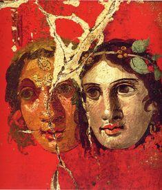 Casa del Bracciale d'oro - theatre masks Pompeii