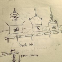 Concept sketch for the new shipping room.